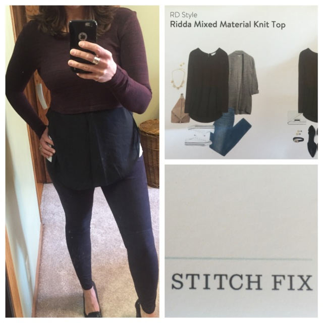 Ridda Mixed Material Knit Top by RD Style...Stitch Fix
