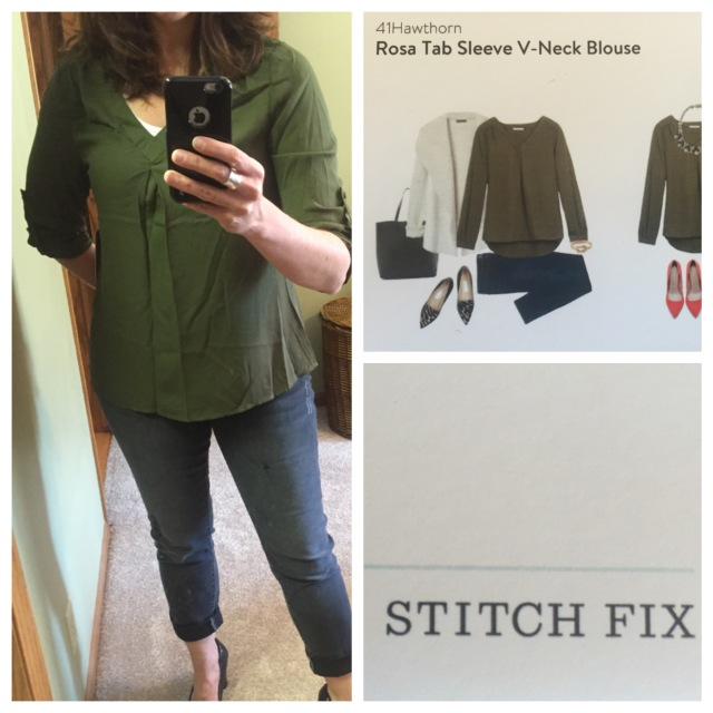 Rosa Tab Sleeve V-Neck Blouse by 41Hawthorn...Stitch Fix