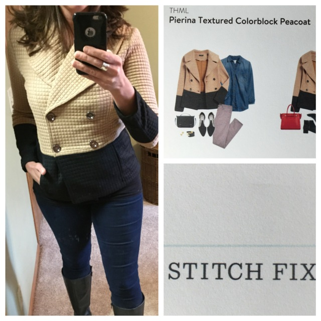 Pierine Textured Colorblock Peacoat by THML...Stitch Fix