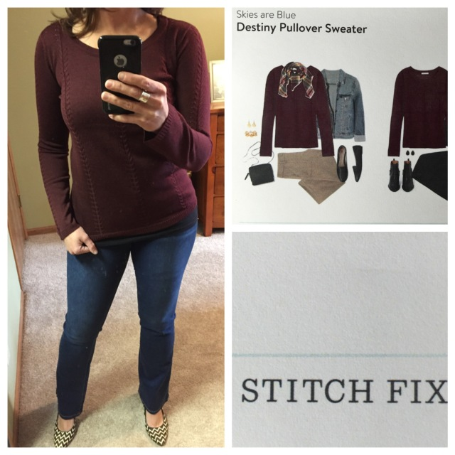 Destiny Pullover Sweater by Skies are Blue...Stitch Fix